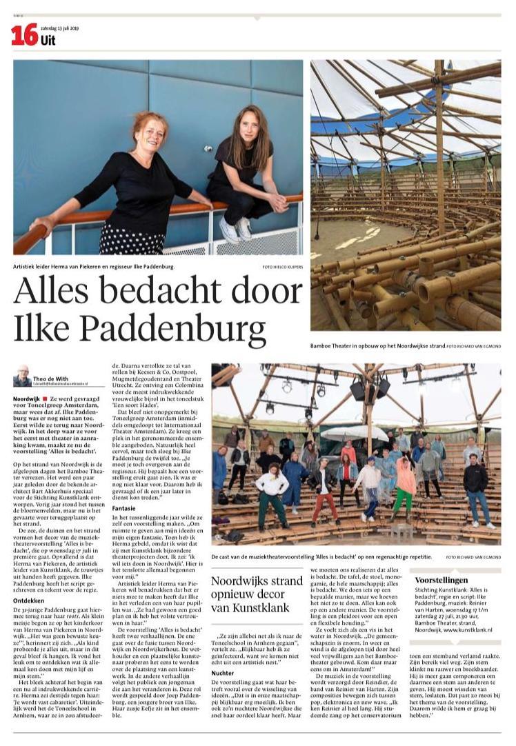 ALLES IS BEDACHT In Het Leidsch Dagblad